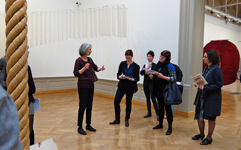 Curator Giselle Eberhard Cotton at the press conference; photo Beatrijs Sterk