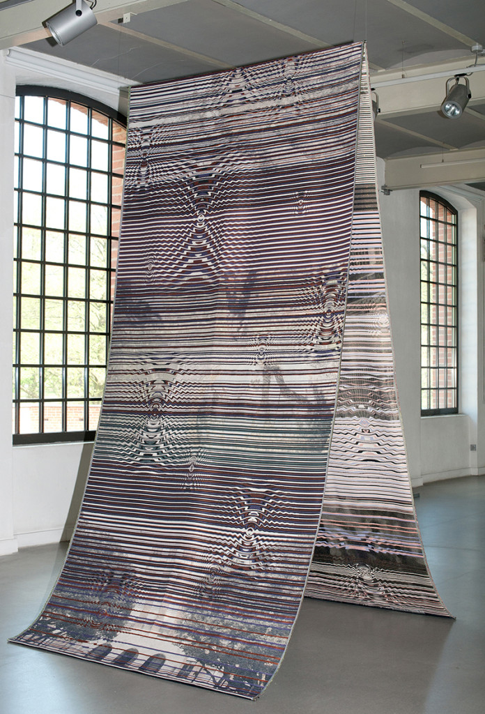 """Tohru Ohtaka / Japan: """"My City of Water"""", 295 x 154 cm, 2015, Jacquard cotton, polyester; Prize of the Central Museum of Textiles; photo Central Museum of Textiles"""