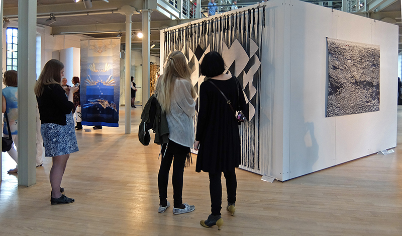 View at the exhibition 15th Tapestry Triennial of Lodz, photo Beatrijs Sterk