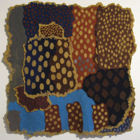 "Joanna Soroka/UK: ""Lots of Dots"", 2010 mixed media ; tapestry at the 4th European Tapestry Triennial"