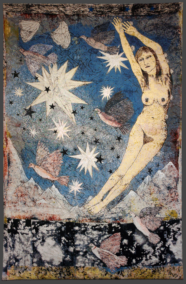 "Kiki Smith: ""Sky"", 287 x 190.5cm, 2012, Jacquard tapestry,"