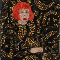 Kate Just/USA/AUS: Feminist Fan series: Yayoi Kusama, 2015, 60x38cm; wool