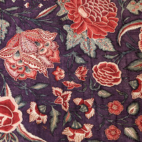 Detail chintz palempore with flowers; photo © fotostudio Noorderblik