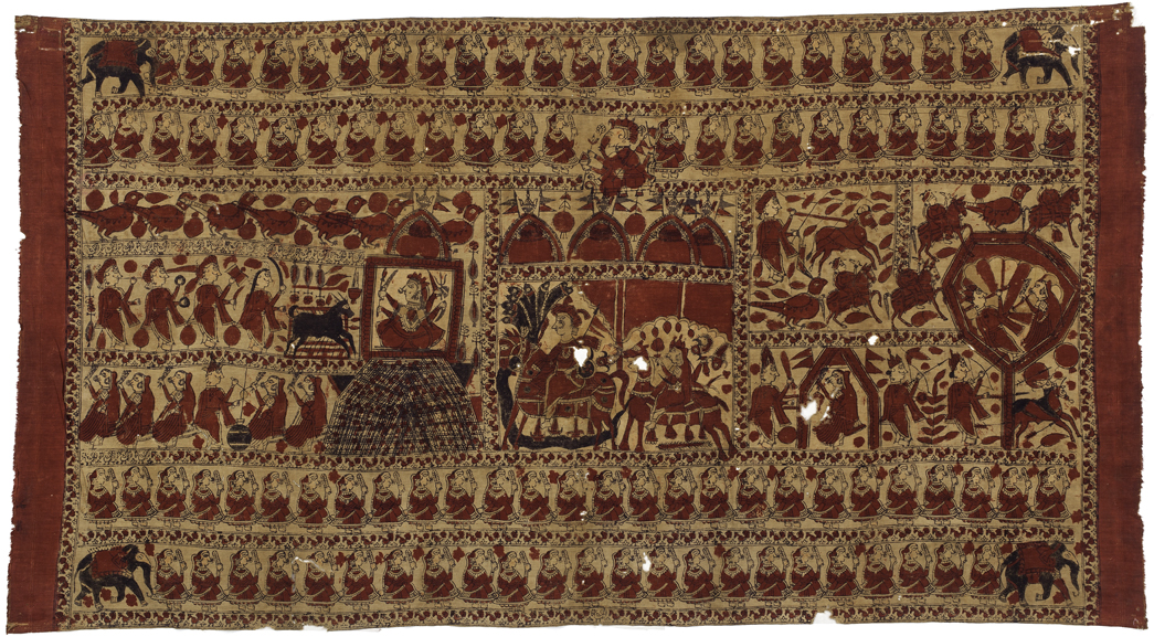 Temple Cloth for Goddesses, matani chandarve, workshop in Jambusar, India; early 20th century