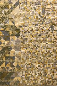 """Pae White """"OroLlegro"""", 2013, detail, Jacquard wallhanging,"""