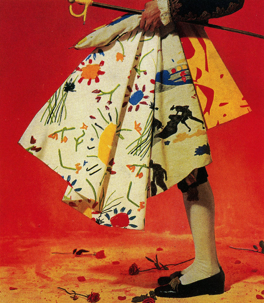 Advertisement for Bloomcraft Fabrics Inc., featuring three Picasso designs, circa 1963