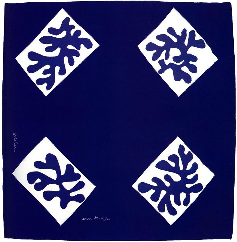 """""""Echarpe No 1"""" by Matisse for Ascher Ltd."""
