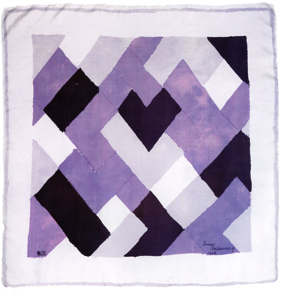 A silk square , designed by Sonia Delaunay for Liberty of London, 1969