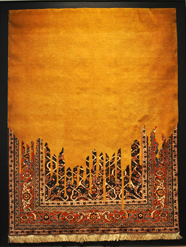 Faig Ahmed, born 1982 in Baku: carpet, handmade, wool: photo B. Sterk