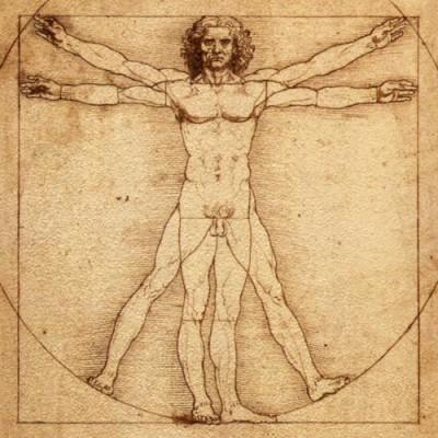 leonardo da Vinci :The Vetruvian man, c.1490