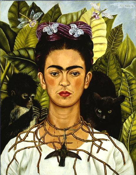 Frida Kahlo, Self Portrait with Necklace of Thorns, 1940 © Nickolas Muray Collection, Harry Ransom Center - The University of Texas at Austin, by SIAE 2014
