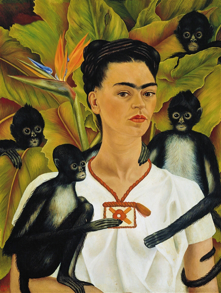 Frida Kahlo, self Portrait with Monkeys, 1943 The Vergel Foundation, Collezione Jacques and Natasha Gelman, Città del Messico, by SIAE 2014