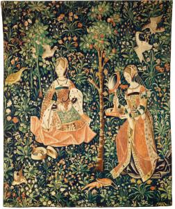 La broderie, tapisserie faisant partie de la vie seigneuriale