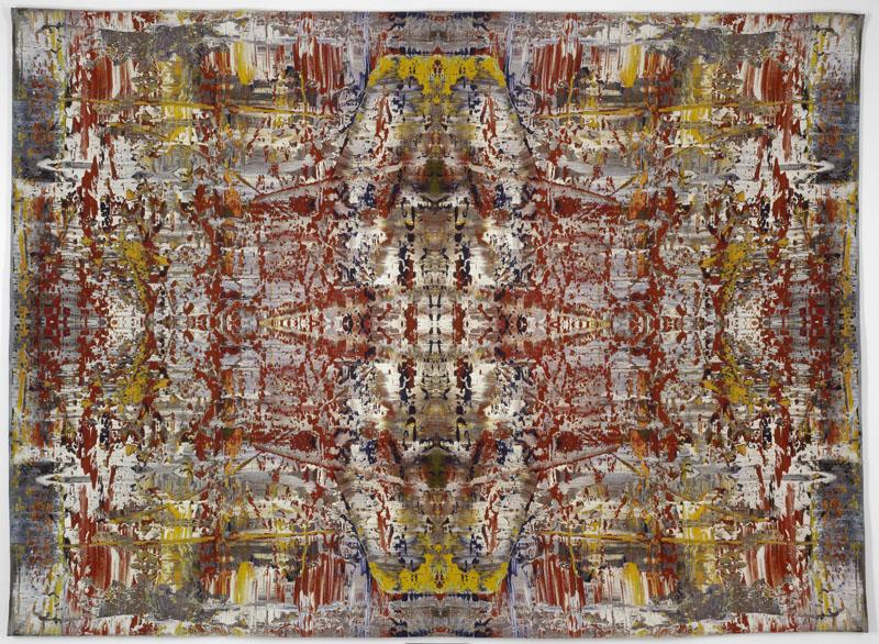 Gerhard Richter, Yusuf, 2009, Gewebter Jacquard-Wandteppich, 276 x 378 cm, Privatsammlung, © Gerhard Richter 2014