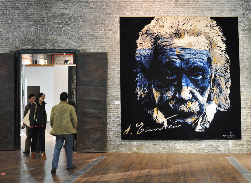 "Zhang Zhaoda: ""Light of Wisdom"", 300x 360 cm, cotton; at the From Lausanne to Beijing exhibition in Nantong, 2012; photo Beatrijs Sterk"