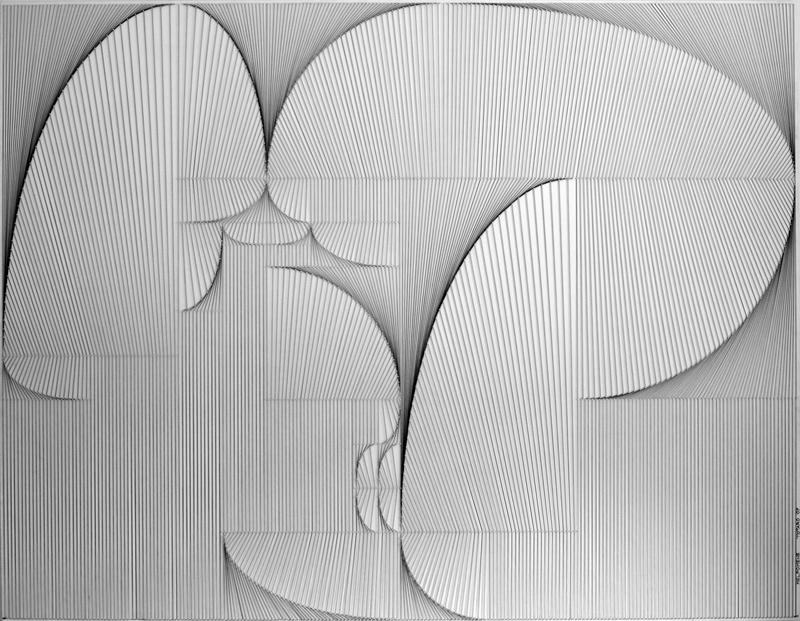 Mimmo Totaro: Melpomene, , chiodi e fili tesi, 2007, 218x170 cm.