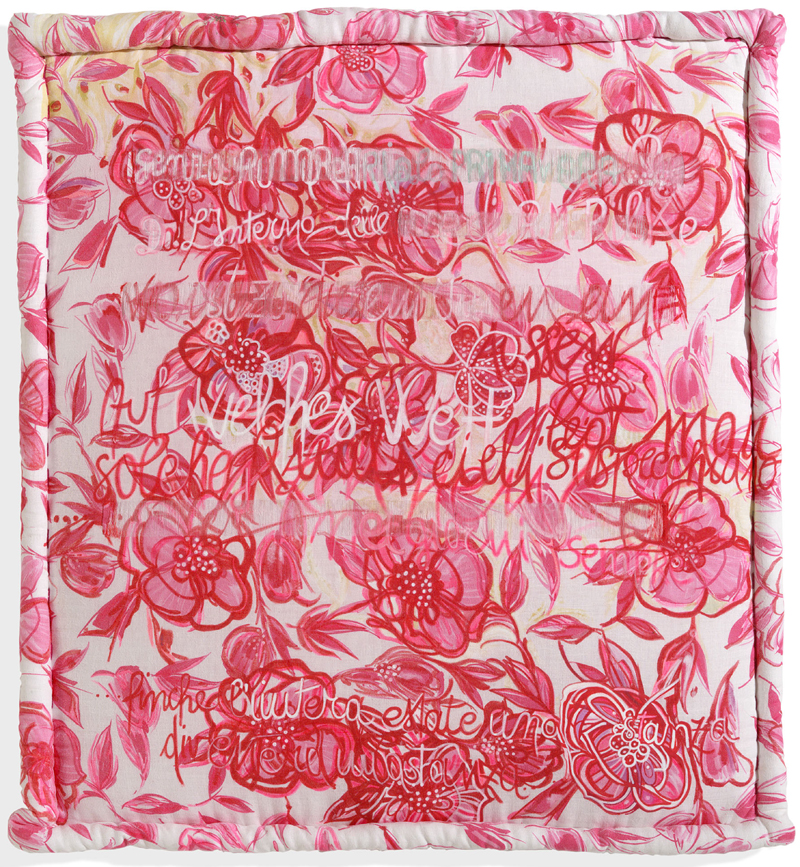 "Sarah Saidman "" Interno delle rose"" 2009, personal technique"