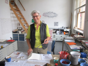 Marian Bijlenga in her studio; marian will give a lecture at the ETN Conference and she is will open her studio during the Amsterdam tour on Thursday 14 May 2015