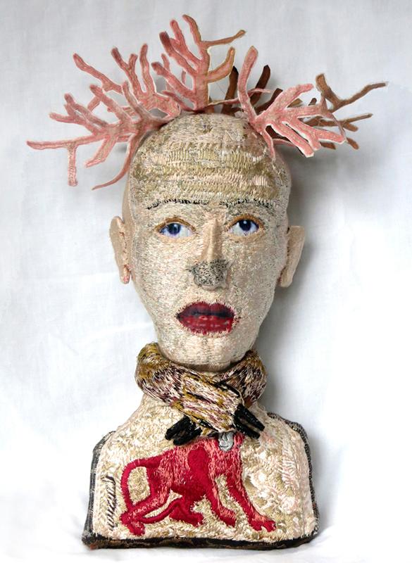 Monica Bohlmann, La Biche, 2013, ink, thread, linen, 30 x 16 x 10 cm. Photo: Monica Bohlmann