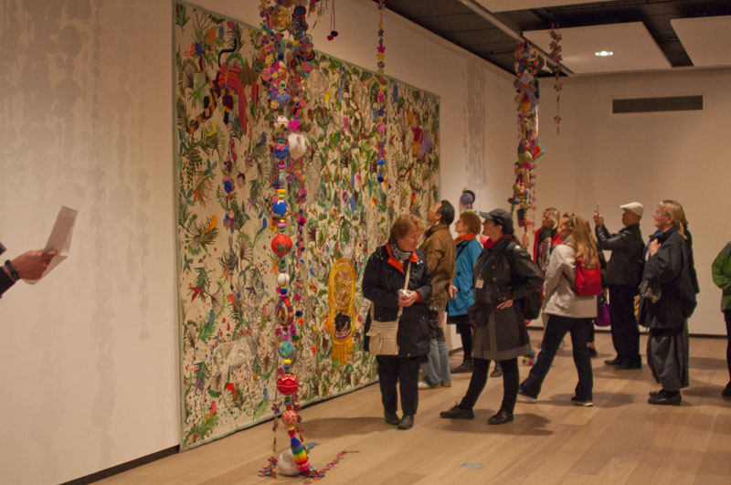 View at the Rijswijk Textile Biennial with the embroidered work of Chiachio & Giannone