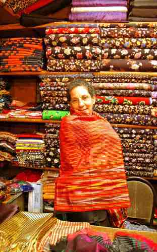 Murat Hashas' fabric shops in the Grand Bazaar