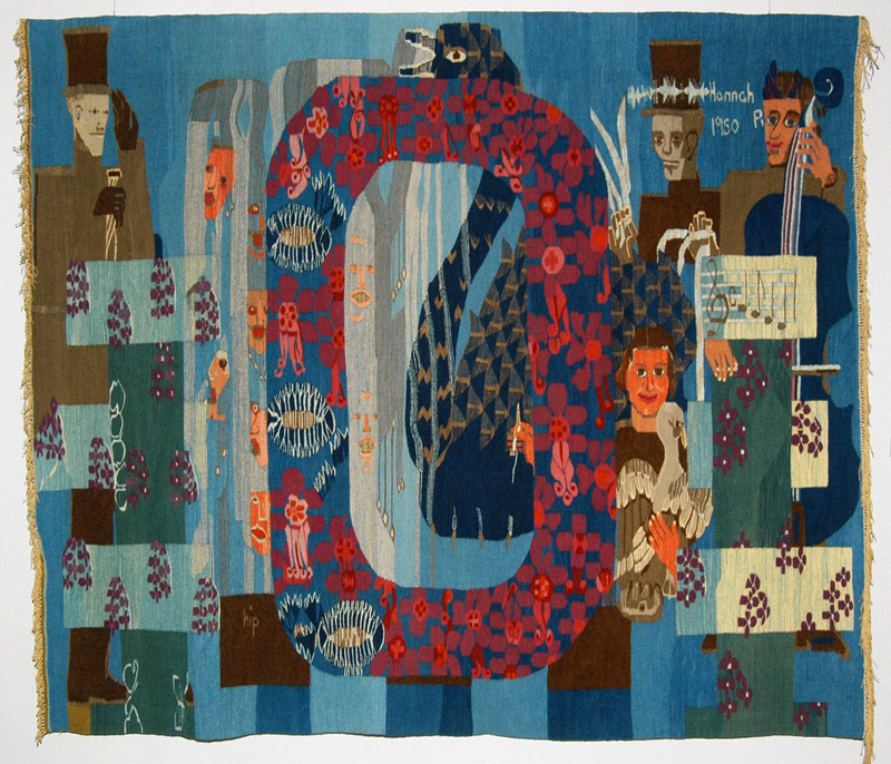 Hannah Ryggen: Ode to Norway, tapestry, 1950