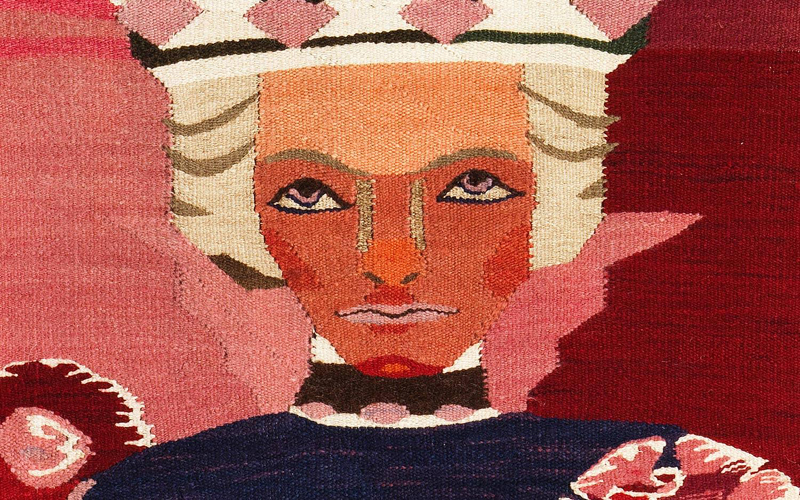 Hannah Ryggen: Petter Dass, detail, 1940, tapestry