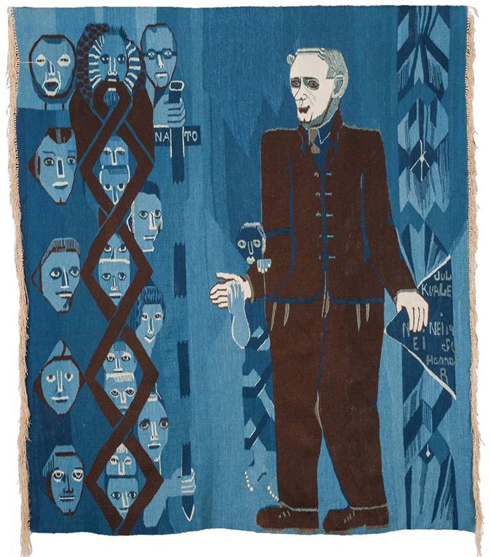 Hannah Ryggen: jul Kvale, 1956, Tapestry