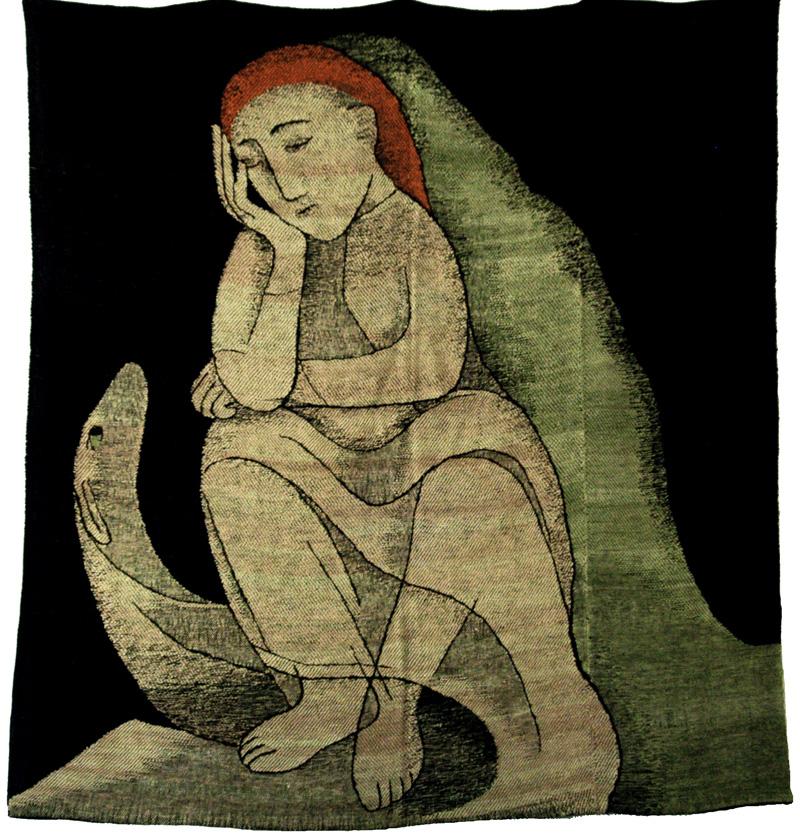 """Johanna Sch¸tz-Wolff, """"Einsamkeit (Loneliness)"""" complete tapestry"""