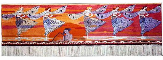 """""""Libellenes dans """" (Dance of the Dragonflies) 1901. 115 x 417."""