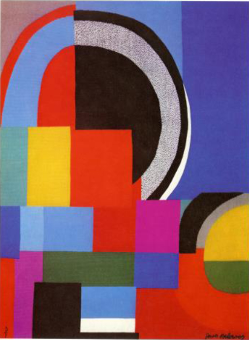 Sonia Delaunay: Courbe gris, 1966 - 1972, 135 x 183 cm, wool; Fondation Toms Pauli