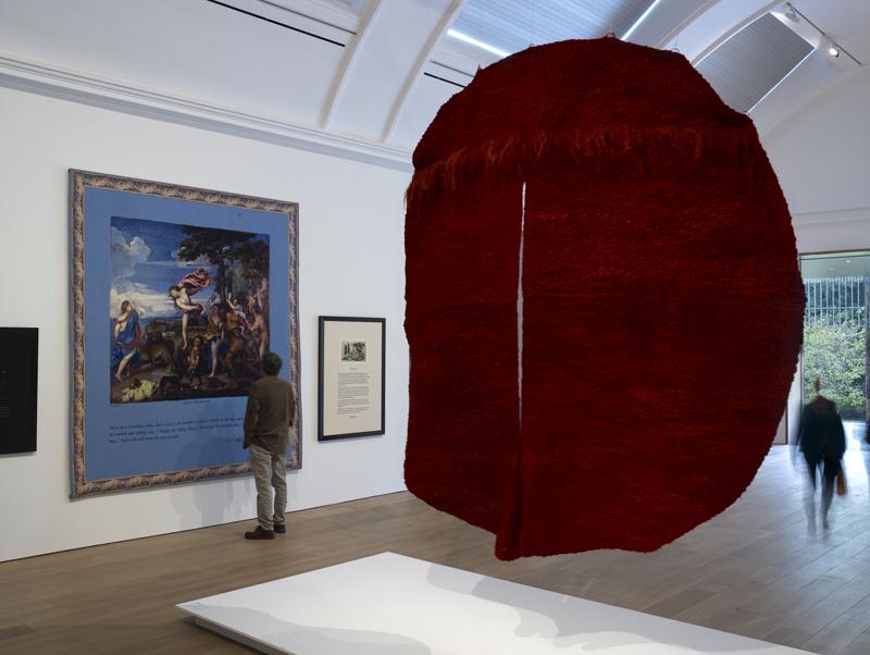 "Magdalena Abakanowicz, ""Abakan Rouge III, 1970/71. Courtesy Toms Pauli Foundation. Photo Michael Pollard"