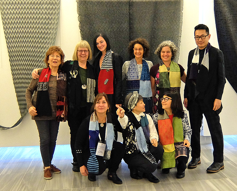 "Workshop participants; from left: Suhandan Ozay, Beatrijs Sterk, Joanna Hawrot, Meredith Strauss, Cecilia ""CeCe"" Jones. Anothai Cholachatpinyo; below: Virginia D´Alto, Reiko Sudo, Susan Taber Avila"