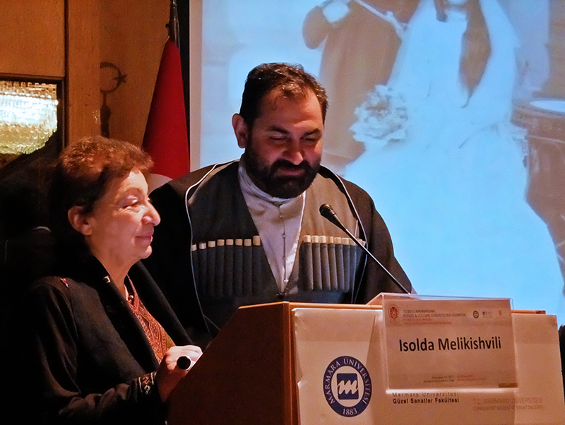 Talk by Luarsab Togonidze and Izolda Melikishvili at the ITCC-2015 International Textile -Fashion Congress 2015 in Istanbul, he a collector and she one of the best scientific researchers of Georgian Dress.