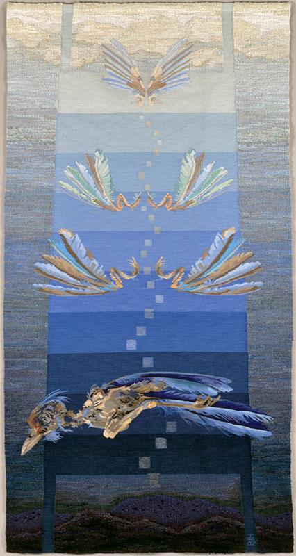 Barbara Heller, Canada: Tzimtzum - Transcendence - bird , tapestry