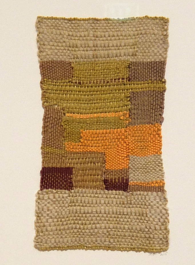 """Sheila Hicks : """"Struggle to Surface"""", miniature weaving (""""minime"""")"""