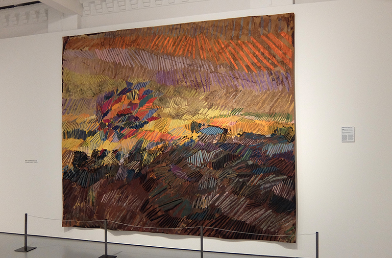 Sheila Hicks: Sunny Meadow Swept by the Wind, 2014; wool, executed by The Manufacture Nationale des Gobelins, Paris