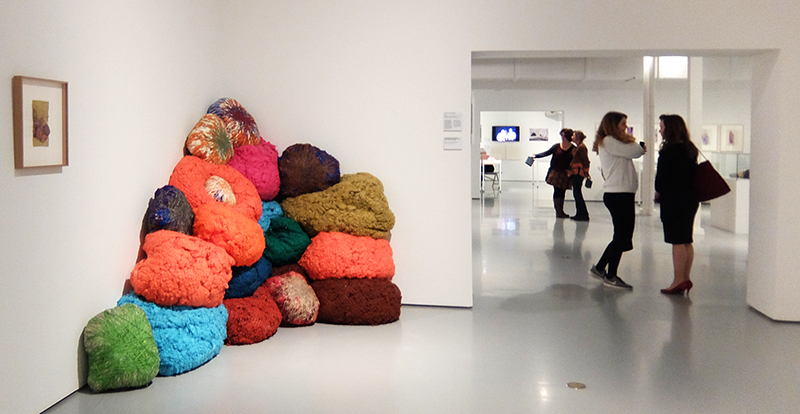 Sheila Hicks: Concert Chromatique, 2015, synthetic fibers by the company Sunbrella, Glen Raven, North Carolina