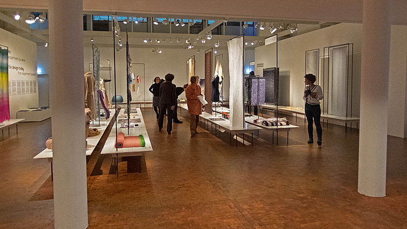 View at the exhibition Textile design Today at the Bauhaus Archive in Berlin: photo Beatrijs Sterk