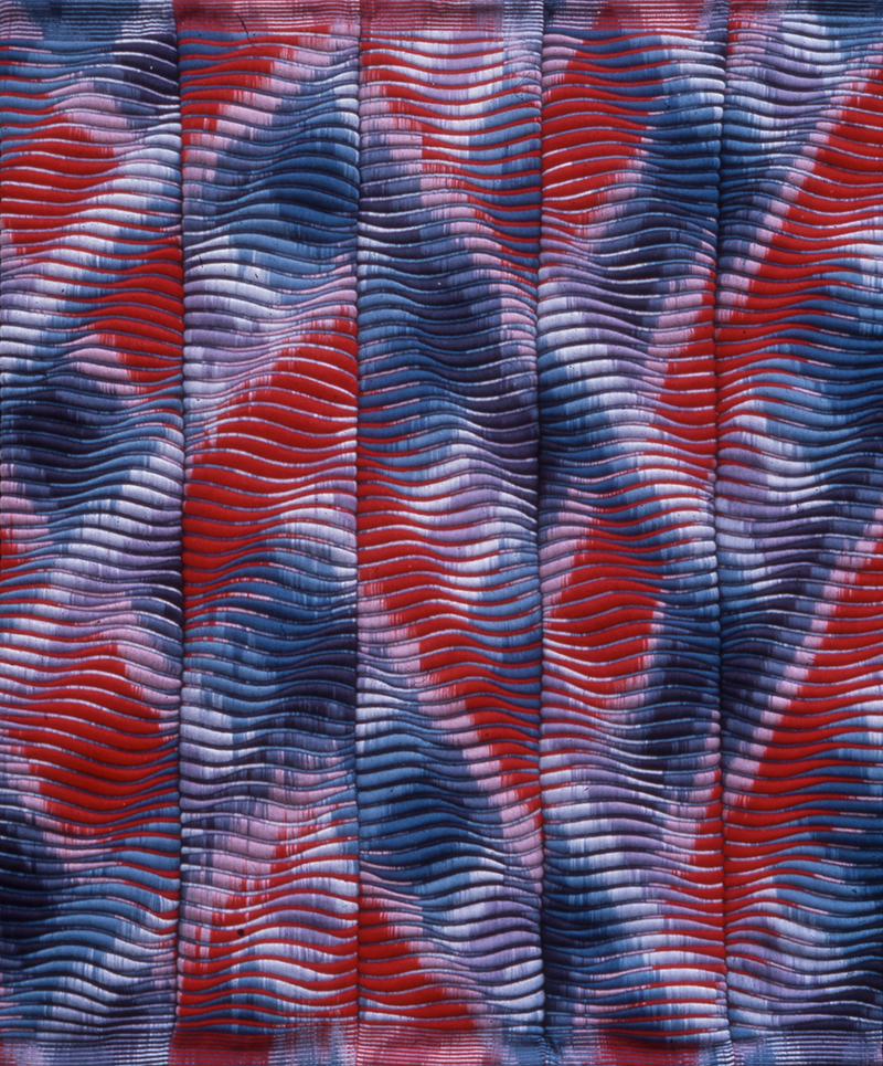Lia Cook (1942 ), USA: Spatial Ikat II, 1977; 274 x 305 cm; wool jute, polyurethan foam; collection & photo: Fondation Toms Pauli, Lausanne