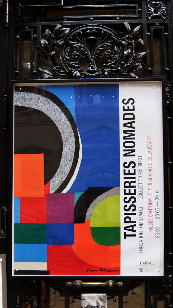 Exhibition poster Tapisseries Nomades; photo Beatrijs Sterk