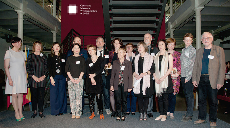 Prize winners and jury members together with the Triennial organizers at the Prize ceremony; photo Agnieszka Ambruskiewicz