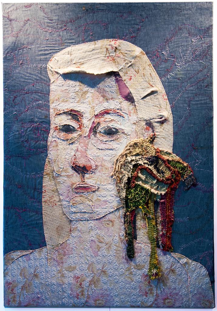 Barbara Polderman NL: A Portrait with a Horse, 130 x 90 cm, collage, various fabrics; photo Beatrijs Sterk