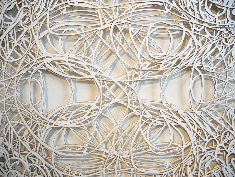 Dordtse Goeden/D: No title, detail ,2014, lasercut, 4 layers, whiteboard; photo Beatrijs Sterk