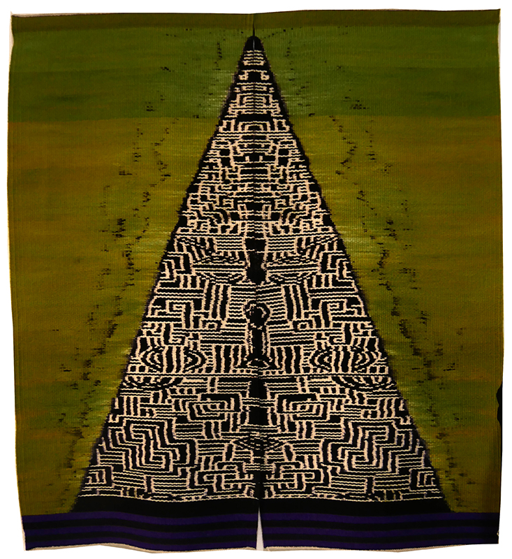 "Mary Zicafoose, ""Mountain for the Buddha"" 2015; work in the exhibition ""Contemporary Art of Shibori and Ikat"""