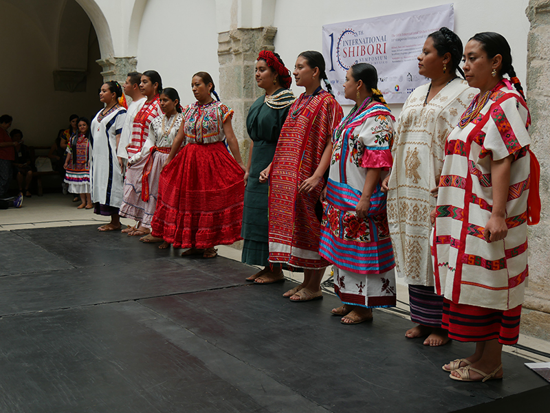 Traditional Costume Show showing the traditional costumes worn in the different parts of Mexico, by the women from these regions