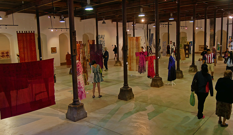 View at the exhibition Contemporary Art of Shibori and Ikat & Wearable Art of Shibori at the Centro de las Artes de San Agustin